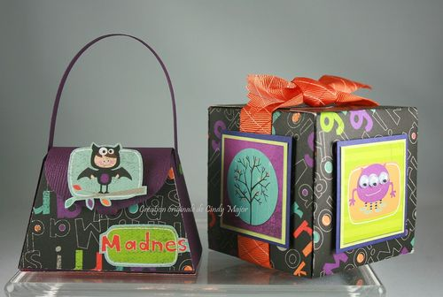 Bo Bunny Monsters Halloween Boxes