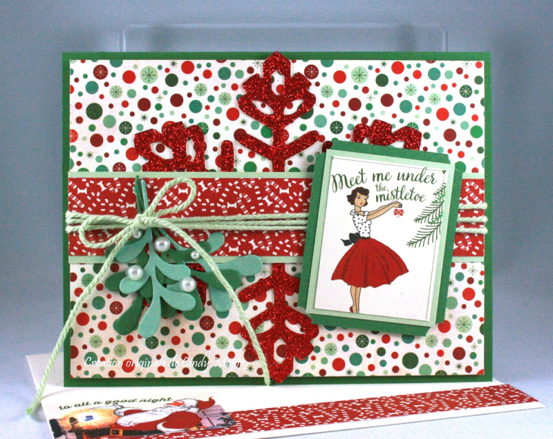 Retro Christmas Authentique Papers_Pretty Pines Thinlits_Cindy Major
