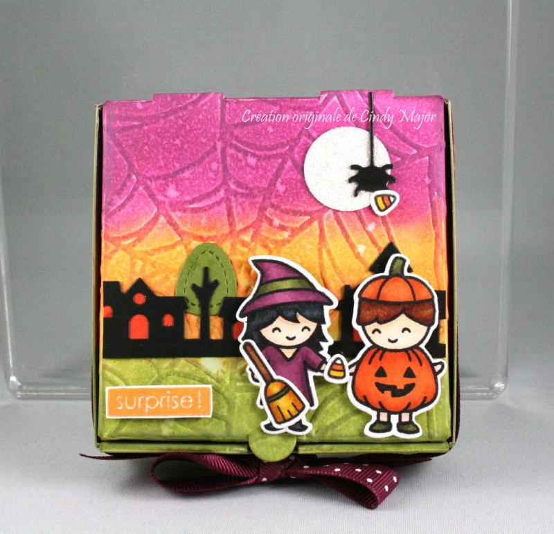 Costume Party_Cute Cobweb_mini pizza box_Cindy Major