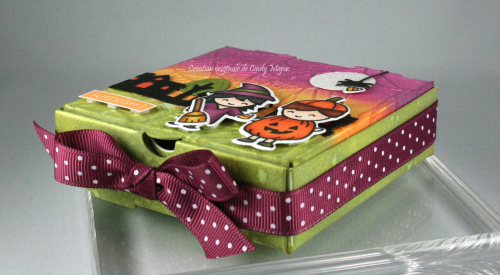 Costume Party_Cute Cobweb_mini pizza box_Cindy Major_side