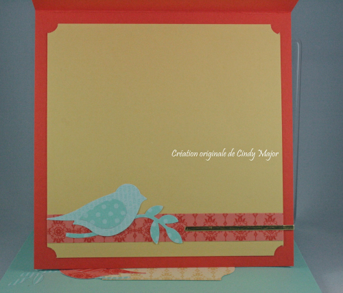 Embossing powder bird_Brick Wall EF_Cindy Major