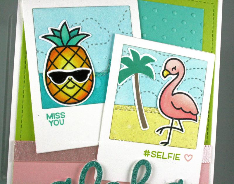 Selfie Frames_Aloha_Flamingo Together_Cindy Major_close up
