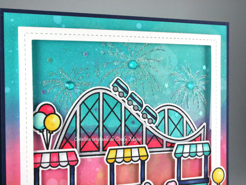 Coaster Critters_Stitched Fireworks_Distress Oxide_Cindy Major_close up
