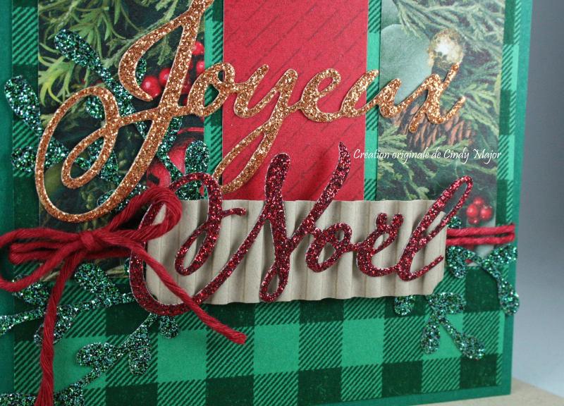 Joyous Noel DSP_Joyeux Noel Thinlits_Buffalo Check_Cindy Major_close up