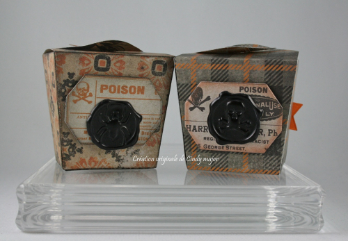Tim Holtz Halloween Takeout Boxes