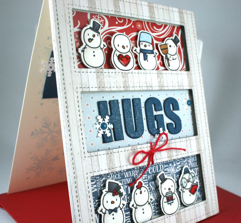 Little Snowman Agenda_I Love Winter_Tri Window Cover_Cindy Major_close up