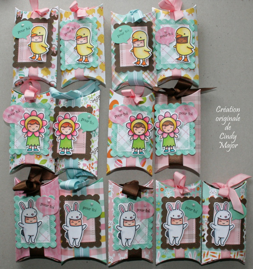 Easter Party Pillow Boxes