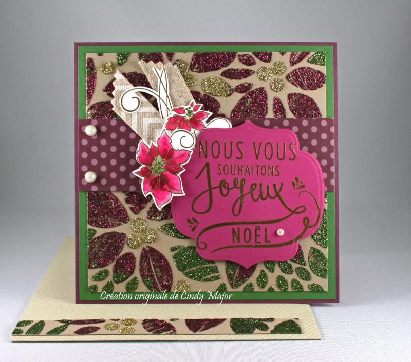 Poinsettia Background Stencil_Nuvo Glimmer Pastes_Cindy Major