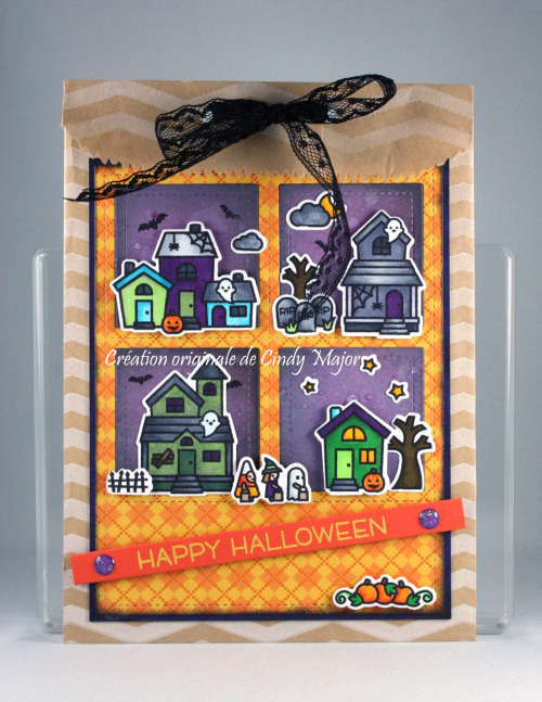 Spooky Village_Chevron Bag_Cindy Major