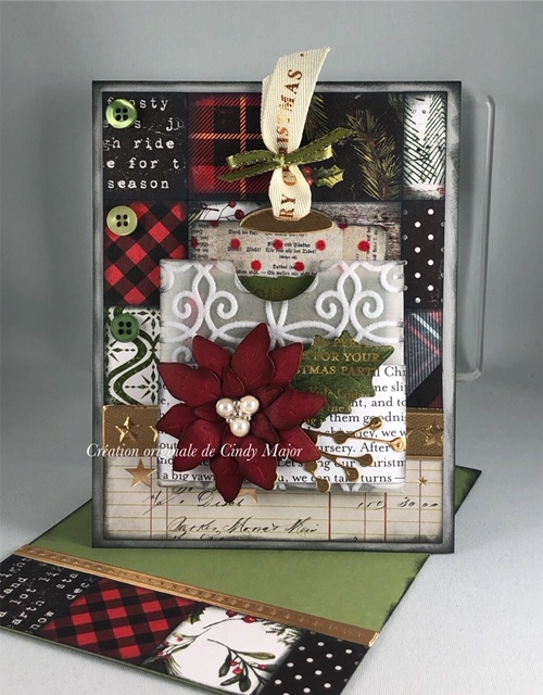 Christmas Tim Holtz Papers_Poinsettas