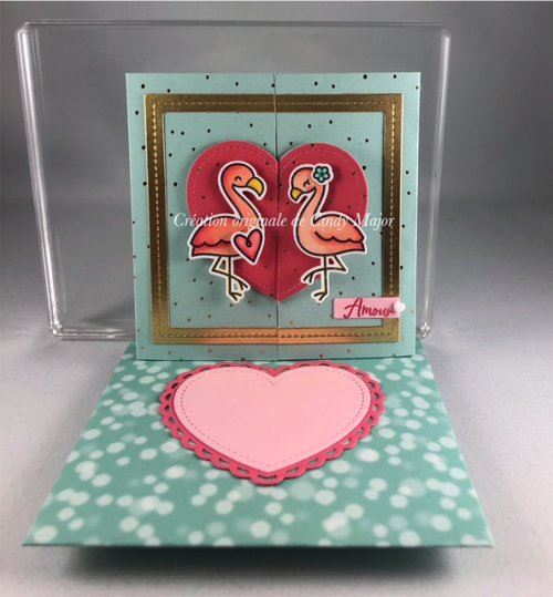 Flamingo Together_Heart Trifold_Cindy Major