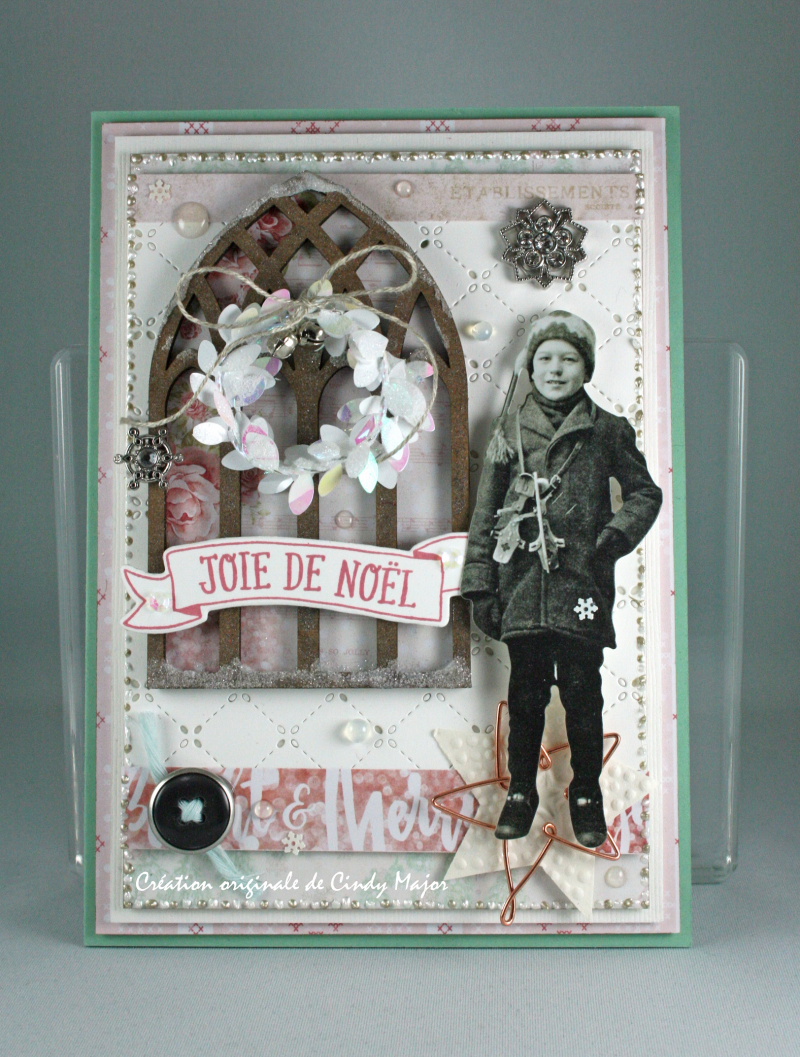 Santa Baby Prima_Cathedral Window Tim Holtz_Christmas Paper Doll_Cindy Major