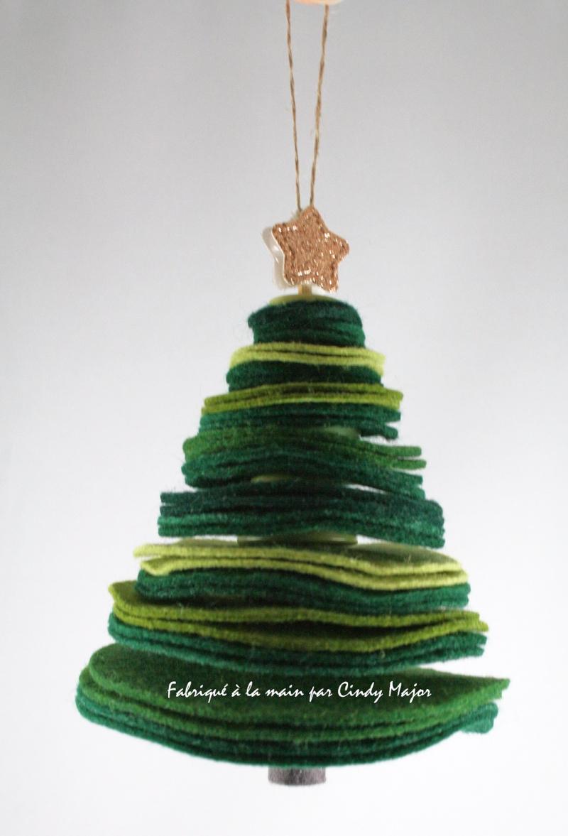 Felt Circle Christmas Tree Ornament_Cindy Major