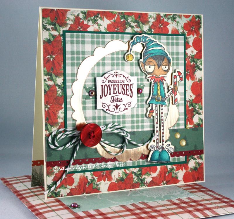 Oddball Elf Boy_Very Vintage Christmas Simple Stories_Cindy Major