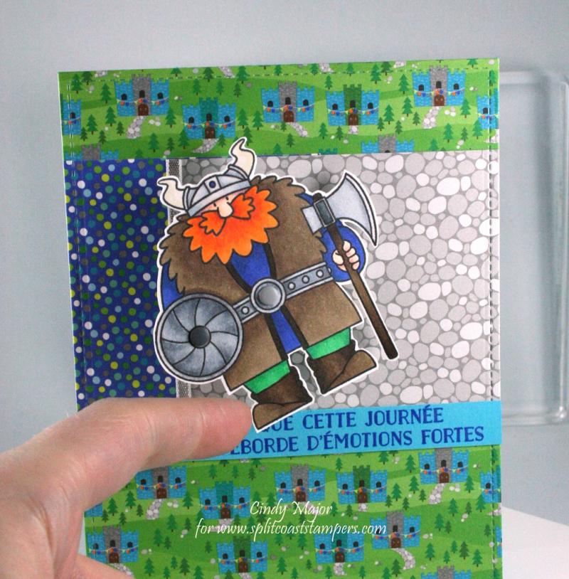 Viking_Dragon Tails Doodlebug Design_Cindy Major_close up