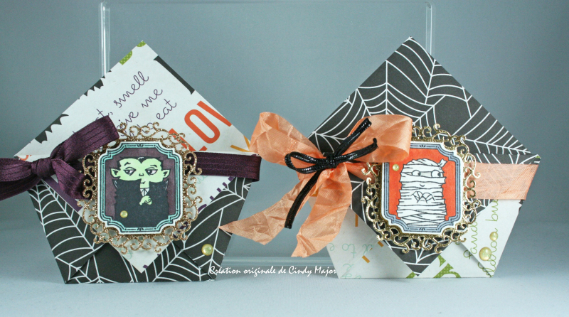 Two origami pockets_Halloween Town_Cindy Major