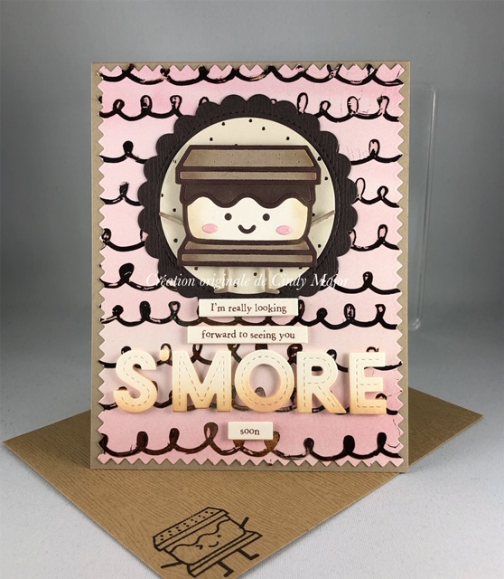 Smiley Smore_Loops Stencil_Amber Watercolour Foil_Cindy Major